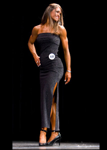 evening gown fitness bikini figure modeling show