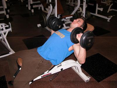 Incline Dumbbell Press Exercise Start Position